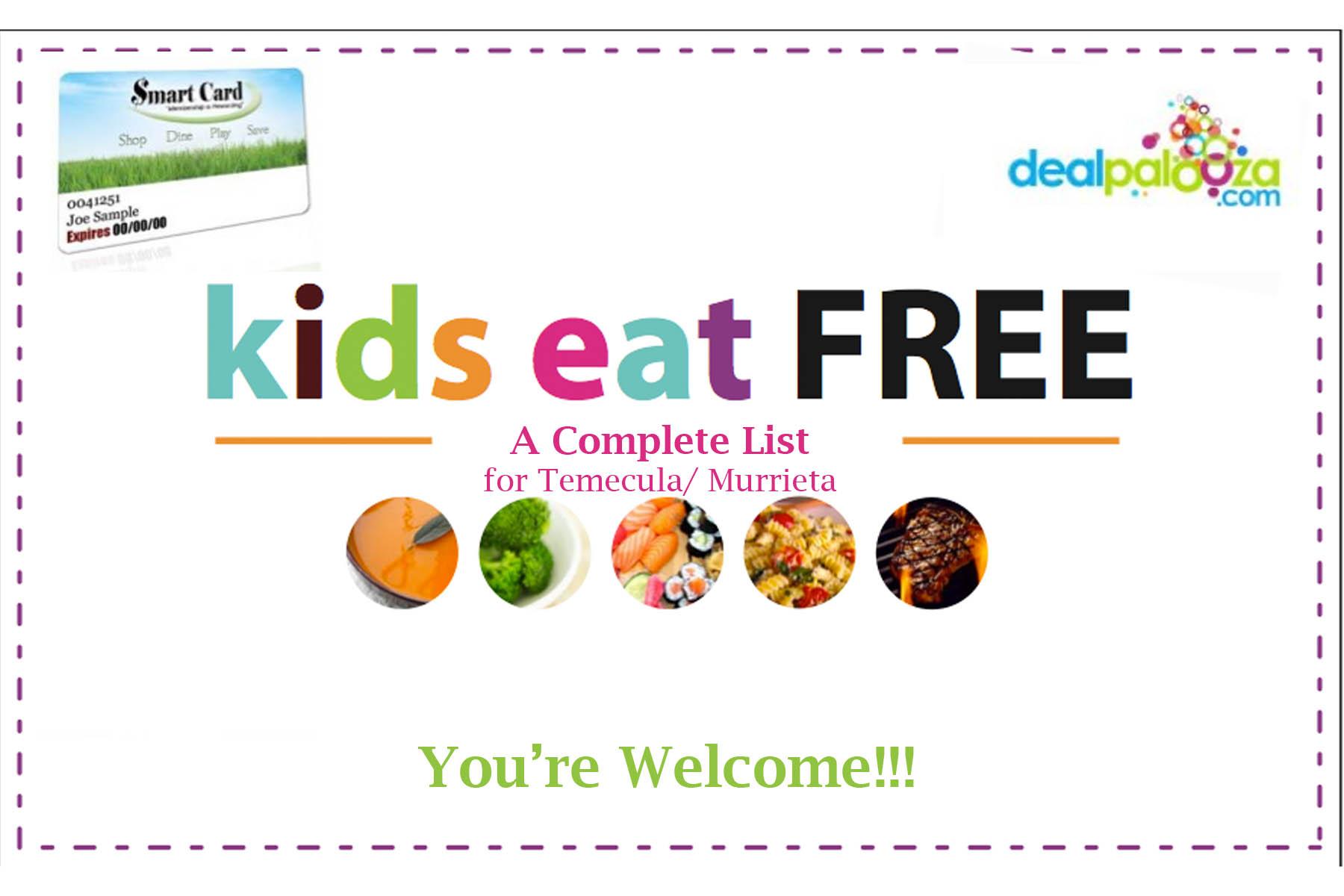 Temecula And Murrieta Kids Eat Free List The Savings Revolution