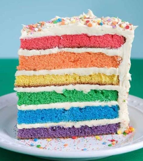 RAINBOW CAKE RECIPE EASY